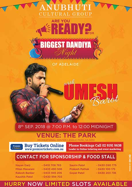 Biggest Dandiya Night With Umesh Barot In Adelaide