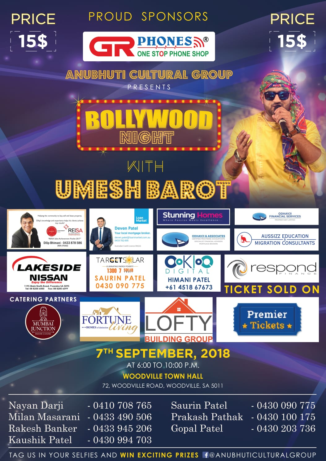 Bollywood Night With Umesh Barot In Adelaide