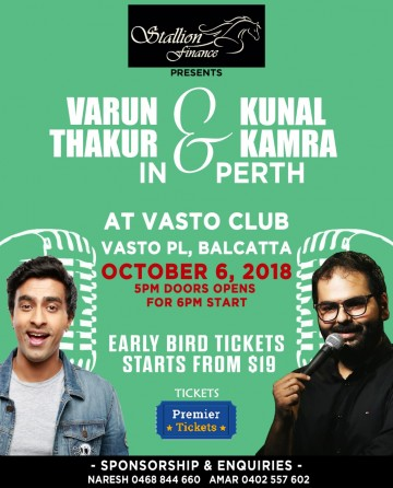 Stand Up Comedy by Varun Thakur & Kunal Kamra Live in Perth