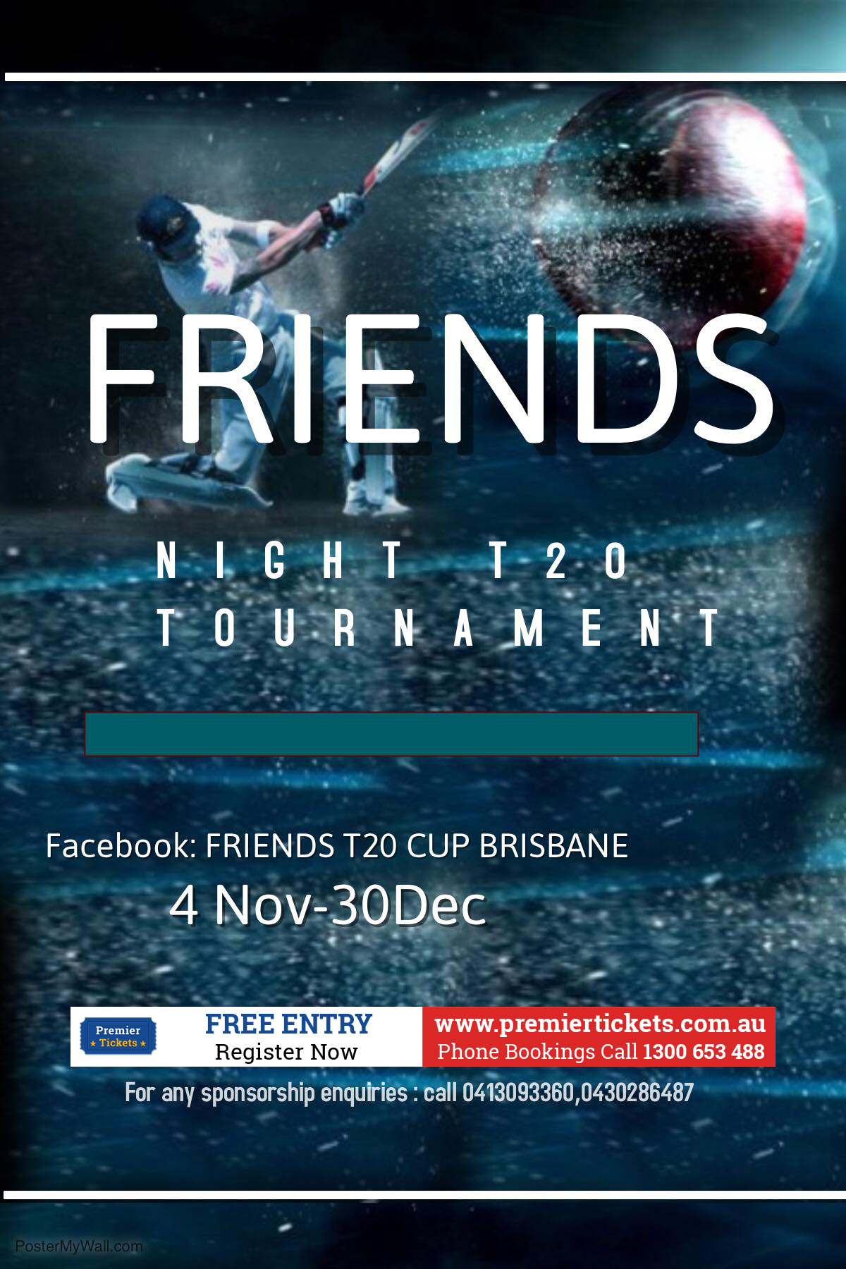 FRIENDS T20 CUP – REGISTER NOW