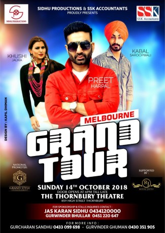 Preet Harpal GRAND TOUR 2018 – MELBOURNE