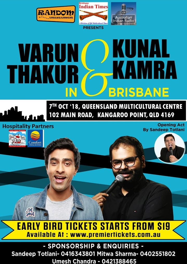 Stand Up Comedy by Varun Thakur & Kunal Kamra Live in Brisbane