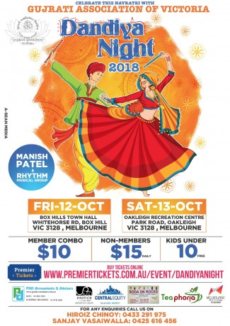 Gujarati Association of Victoria  – Dandiya Night 2018