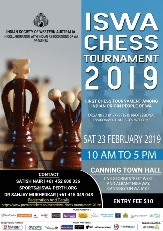ISWA Chess Tournament 2019 – REGISTER NOW