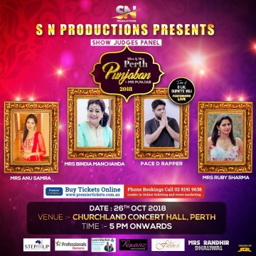 Mr, Miss & Mrs Perth Punjaban 2018