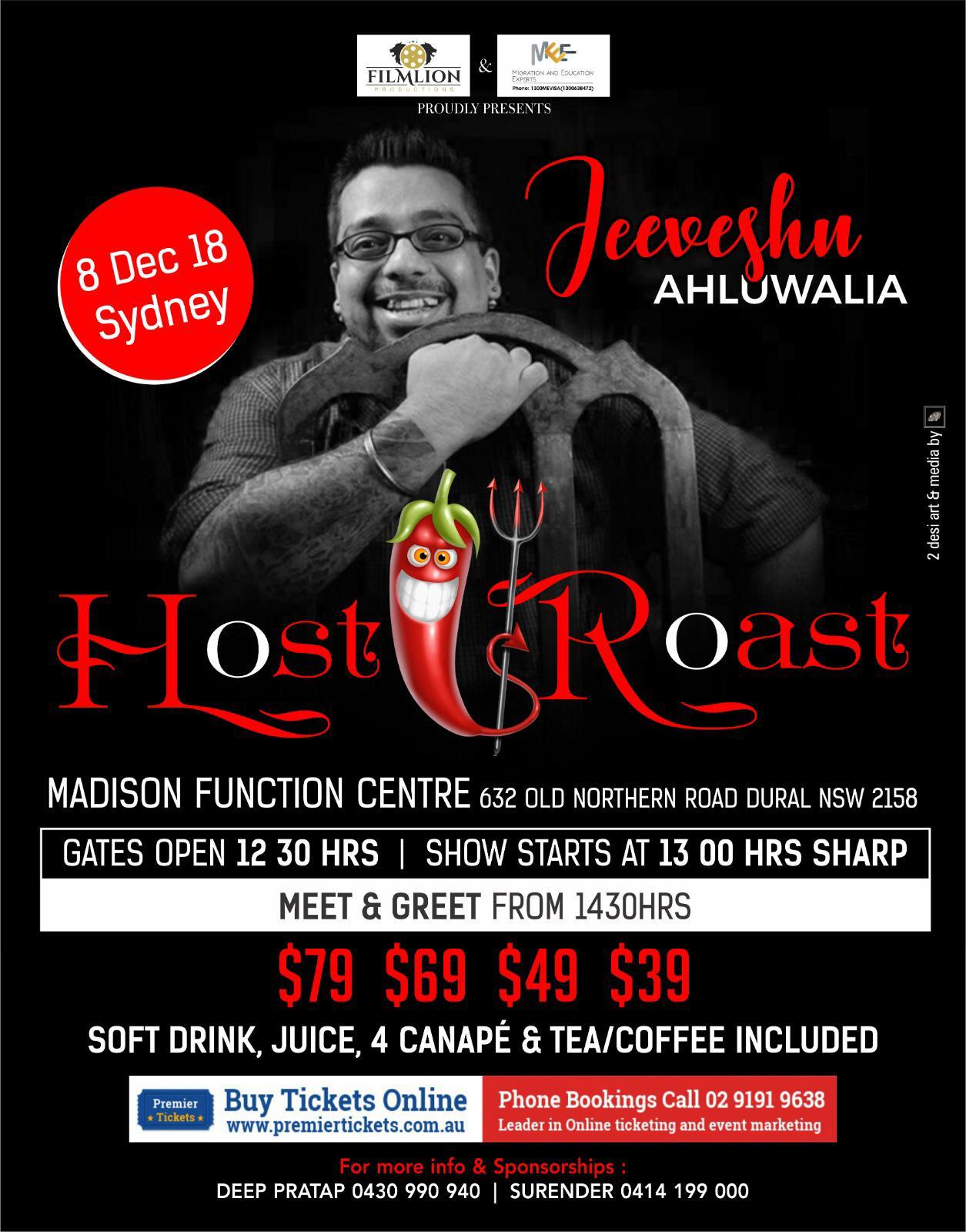 Host to Roast with Jeeveshu Ahluwalia – Sydney