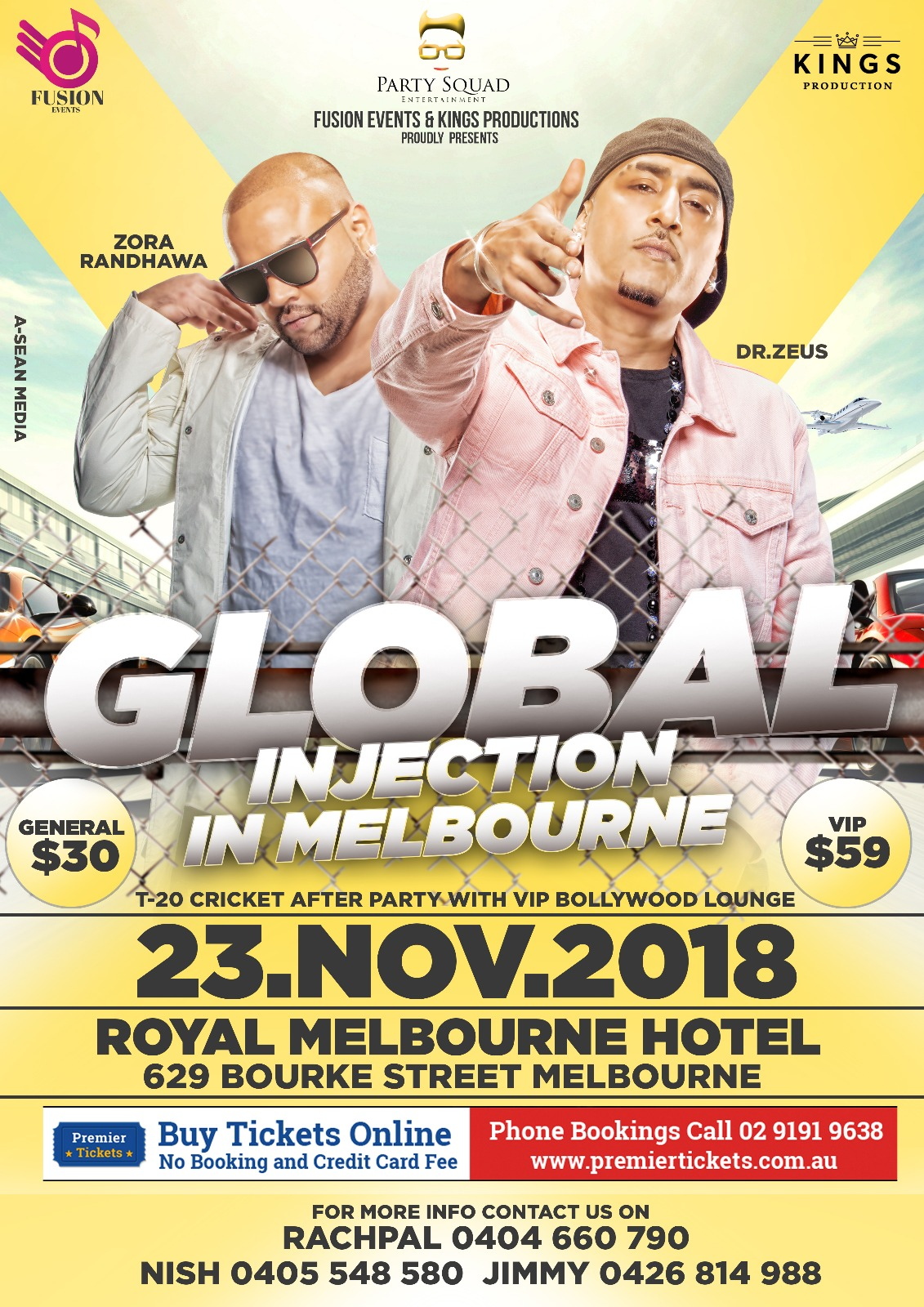 Global Injection in Melbourne