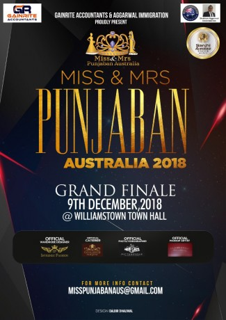 Miss and Mrs Punjaban Australia Grand Finale 2018