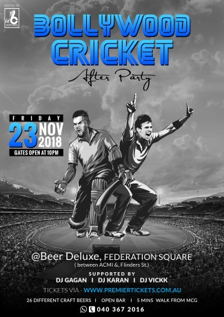 Bollywood Cricket After Party; Ind vs Aus T20