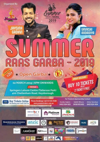 Summer Raas Garba in Melbourne