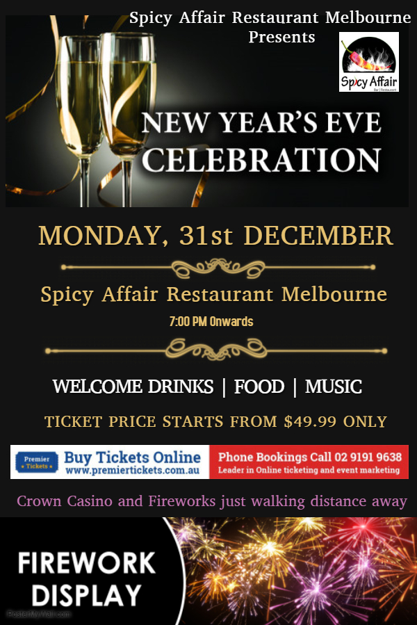 New year Eve Celebration Dine and Drinks in South Melbourne