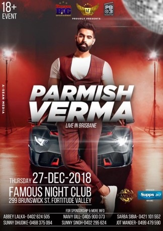 PARMISH VERMA –  Live in Brisbane