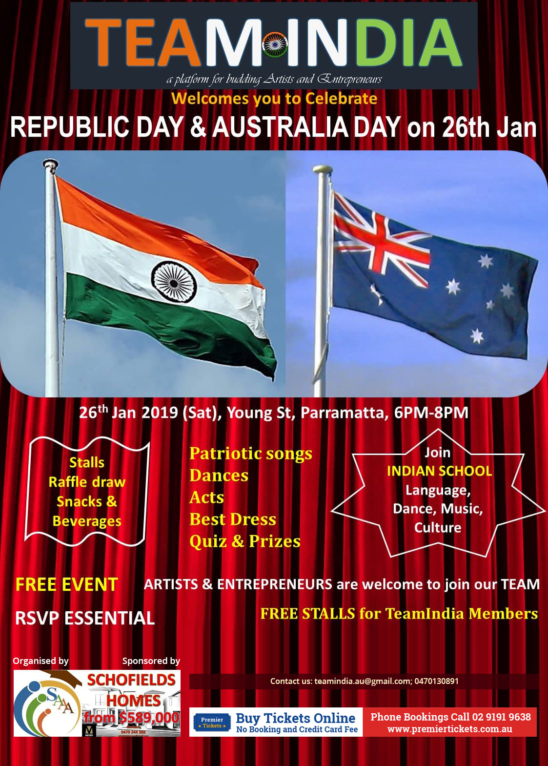 Republic Day and Australia Day – Free Entry
