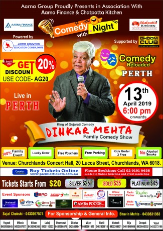 Dinker Mehta Family Comedy Show – Perth
