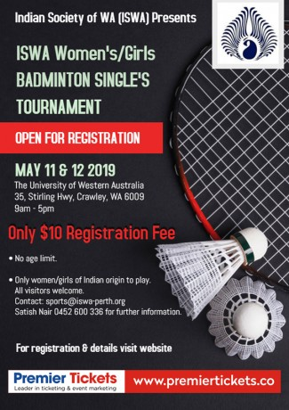 ISWA Women's/Girls Badminton Singles Tournament – REGISTER NOW