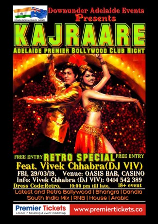 KAJRAARE- RETRO BOLLYWOOD NIGHT