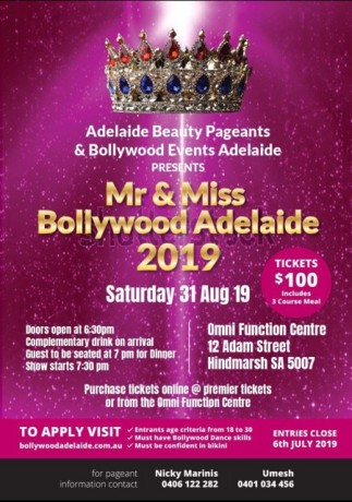 Mr & Miss Bollywood Adelaide 2019