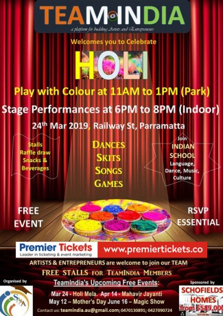 HOLI with Musical & Comical Night – FREE ENTRY