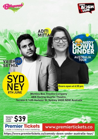 Comedy Down Under – Monkey Baa Theatre, Sydney (8th June)