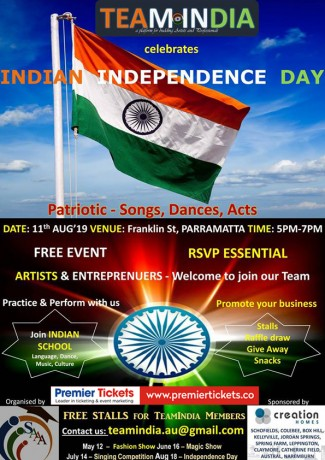 Indian Independence Day – Free Entry