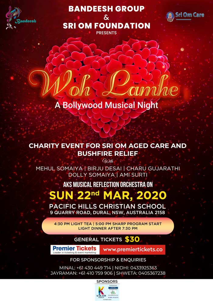 Wo Lamhe – A Bollywood Musical Night by Bandeesh Group