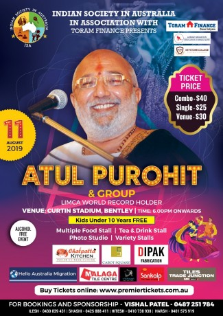 Navratri with Atul Purohit & Jigardan Gadhavi in Perth 2019