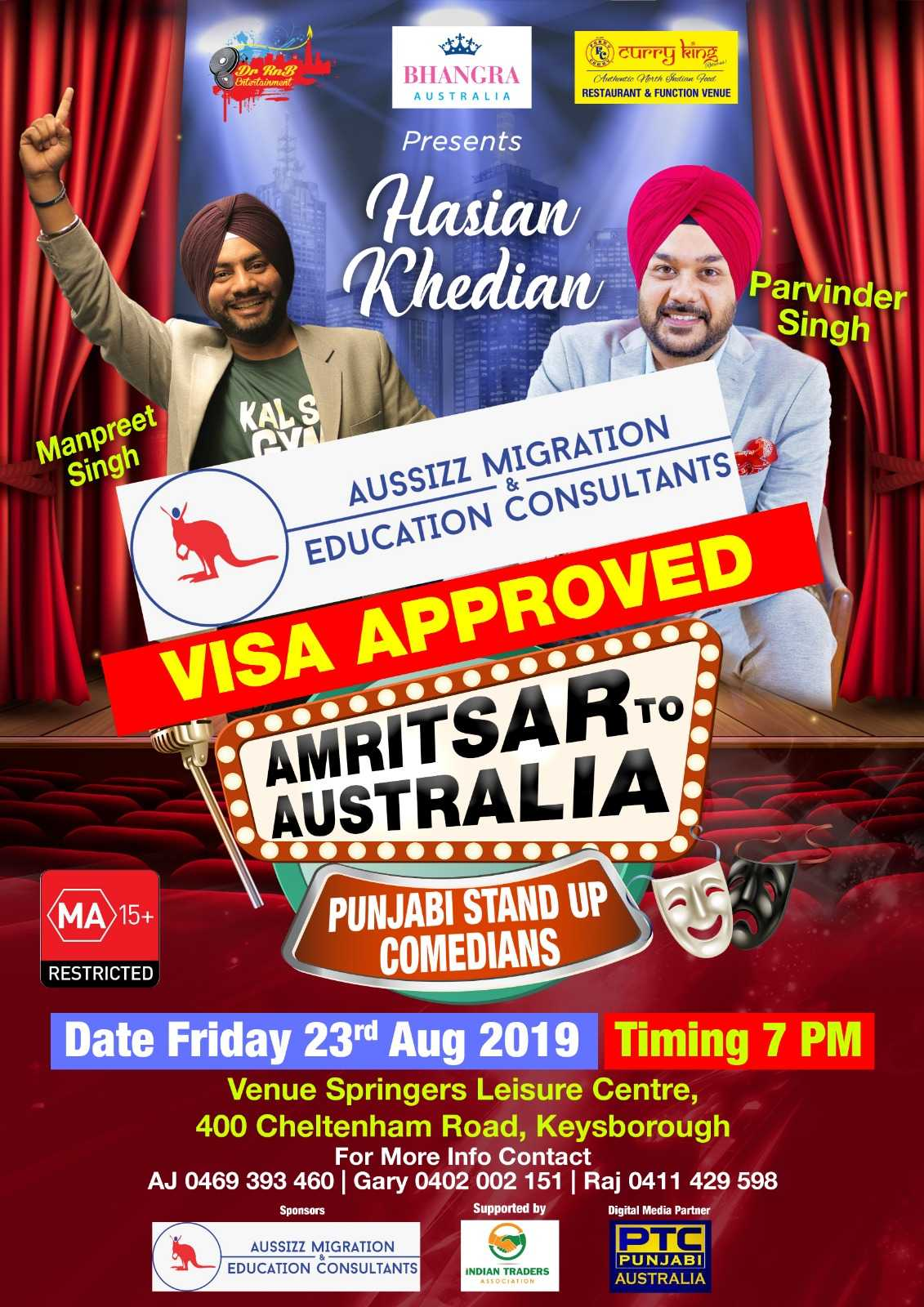 Hasian Khedian with Manpreet and Parvinder Singh – Friday