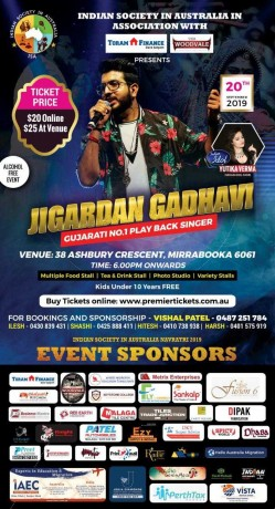 Navratri with Jigardan Gadhavi in Perth 2019