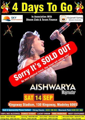 Navratri with Aishwarya Majmudar Live in Perth 2019
