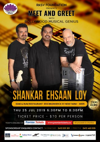 Dinner with Music Legends- Shankar Ehsaan & Loy in Brisbane