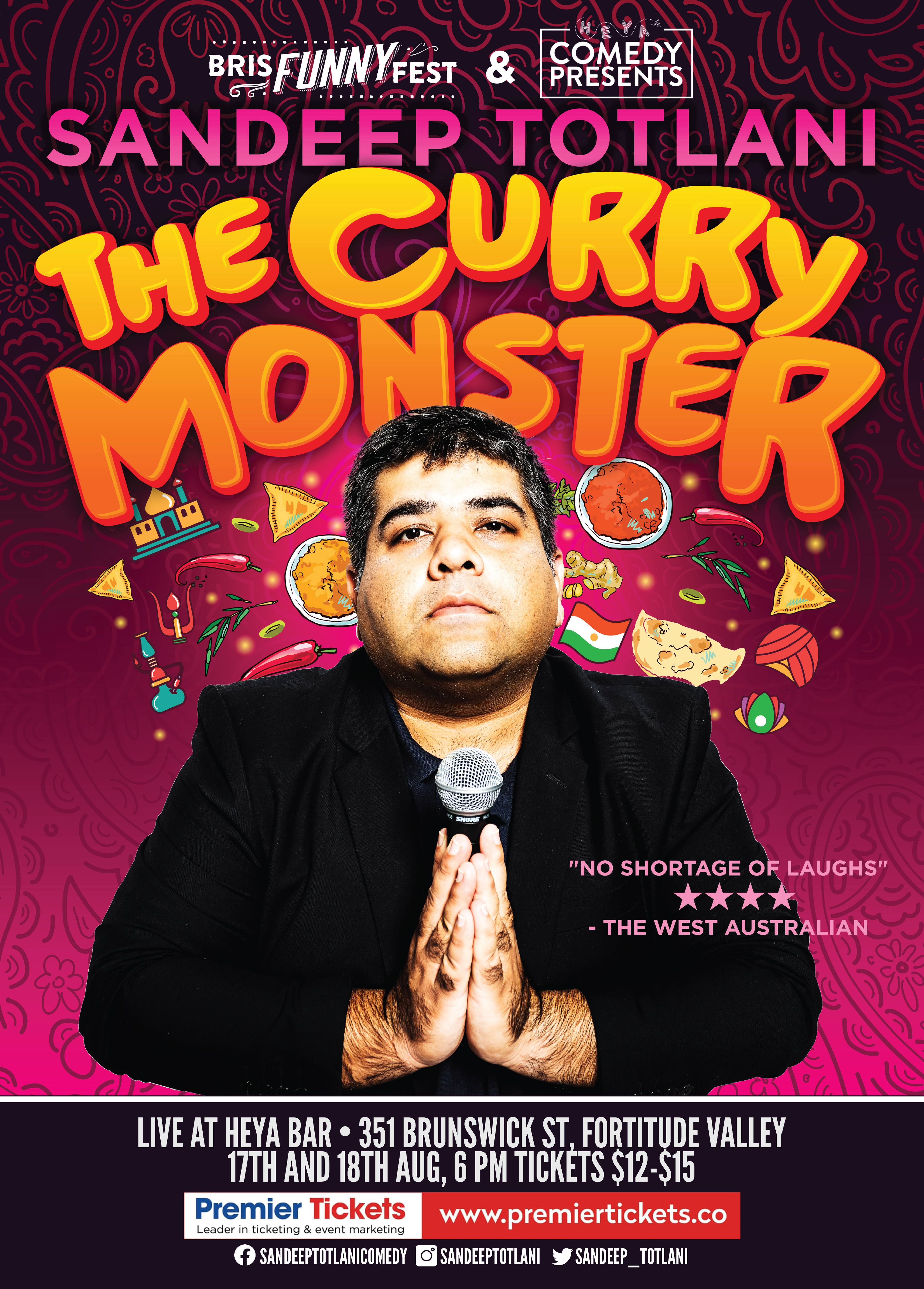 The Curry Monster in Brisbane – Stand up Comedy