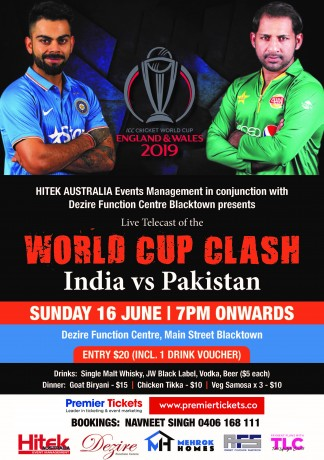 WORLD CUP CLASH Live Telecast – INDIA vs PAKISTAN