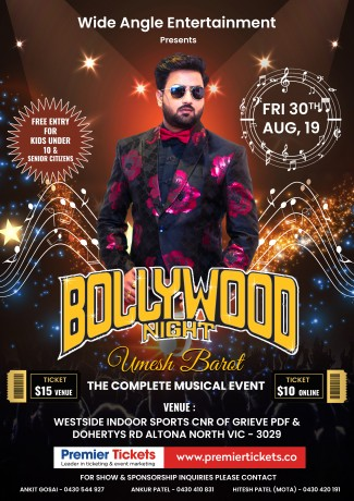Bollywood Night with Umesh Barot in Melbourne