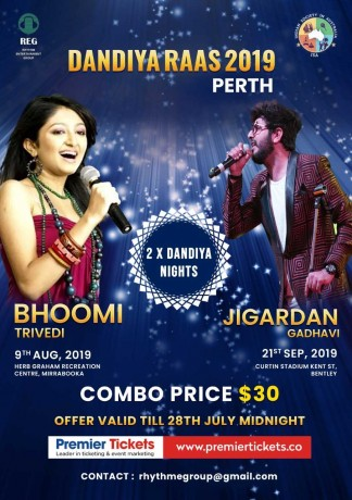 Garba with Bhoomi Trivedi and Jigardan Gadhvi Live in Perth