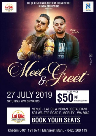 Meet & Greet with Deep Jandu & Karan Aujla – Perth
