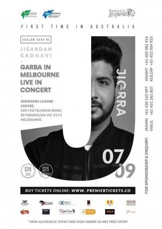 Garba Night with Jigardan Gadhavi Live in Melbourne