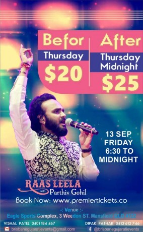 Raas Leela with Parthiv Gohil in Brisbane 2019