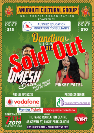 Dandiya Night 2019 With Umesh Barot In Adelaide