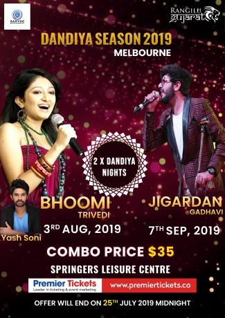 Garba with Bhoomi Trivedi and Jigardan Gadhvi Live in Melbourne