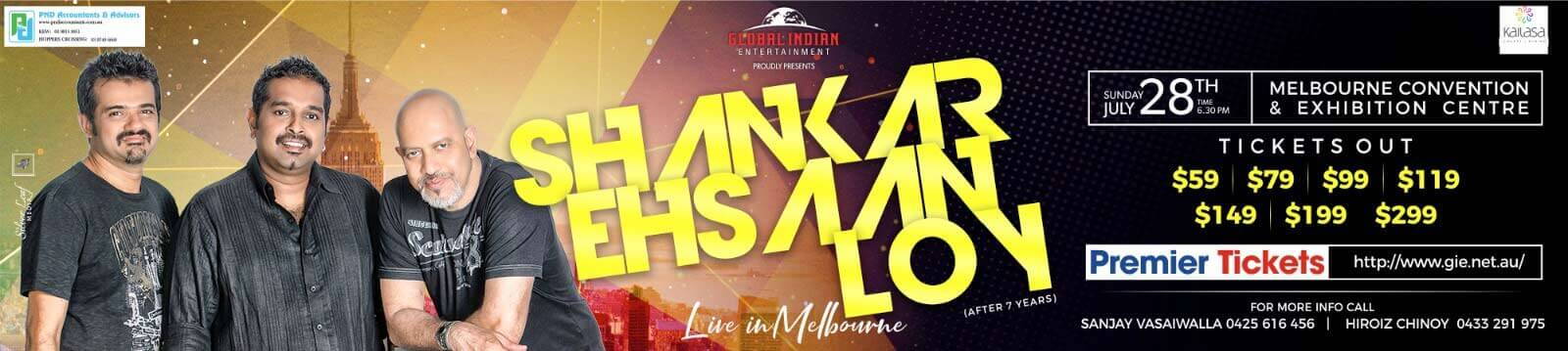 Shankar Ehsaan and Loy in Melbourne
