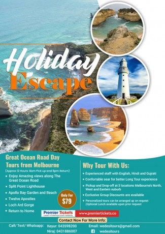 Great Ocean Road Day Tours from Melbourne – 16th Nov