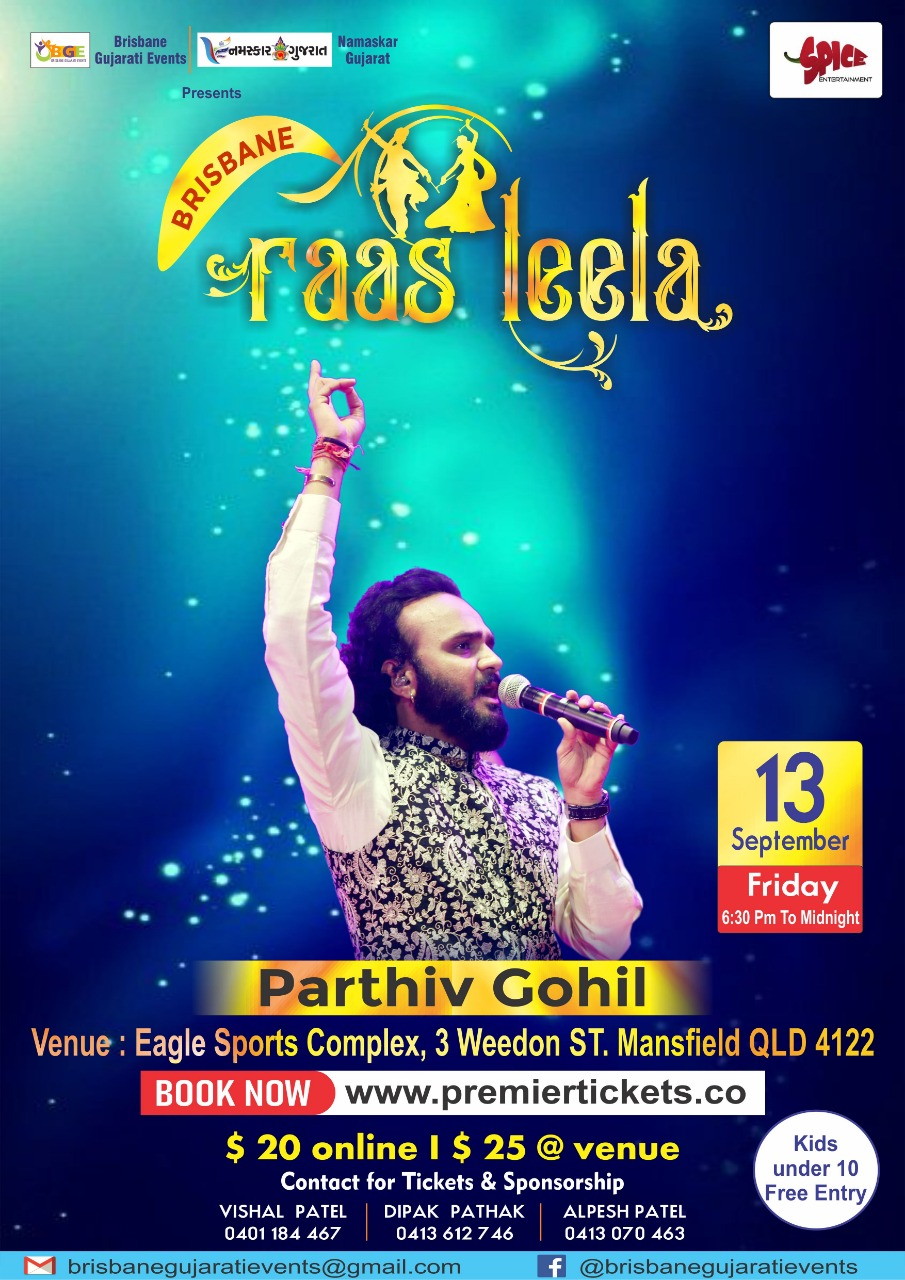 Navratri Dandiya with Parthiv Gohil in Brisbane 2019