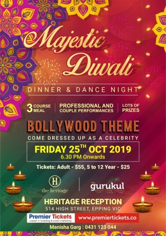 MAJESTIC DIWALI – DINNER & DANCE NIGHT