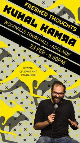 Fresher Thoughts by Kunal Kamra in Adelaide