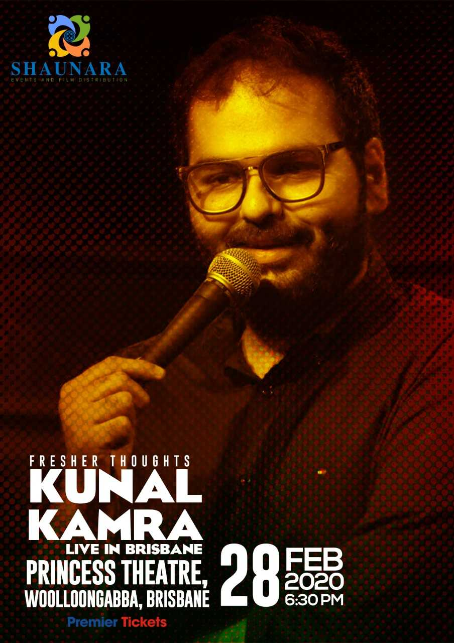Fresher Thoughts by Kunal Kamra in Brisbane