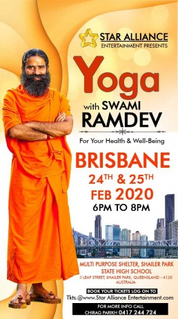Yoga Session 2020 – Swami Ramdev Live in Brisbane