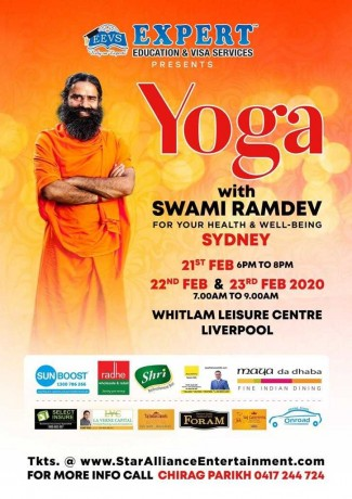 Yoga Session 2020 – Swami Ramdev Live in Sydney