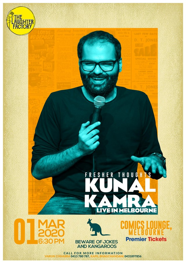 Fresher Thoughts by Kunal Kamra in Melbourne