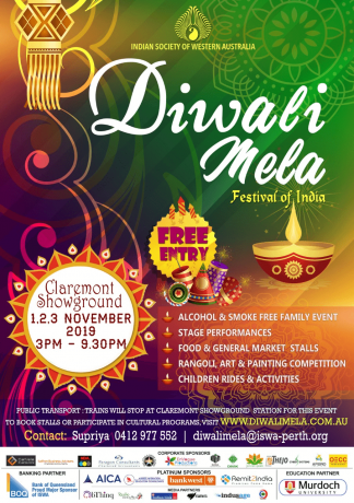 Diwali Mela 2019, The Festival of India – FREE ENTRY