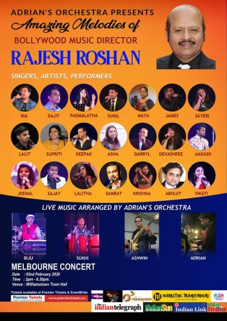 Amazing Melodies of Rajesh Roshan by Adrian's Orchestra – MELBOURNE